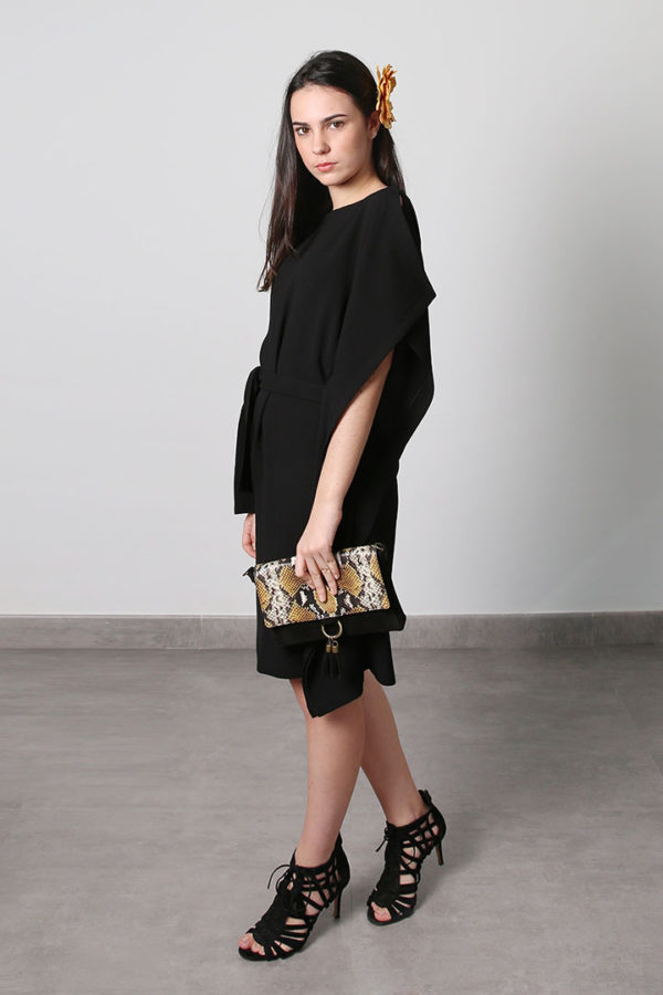 Black Asymetrical Dress - O'Livia