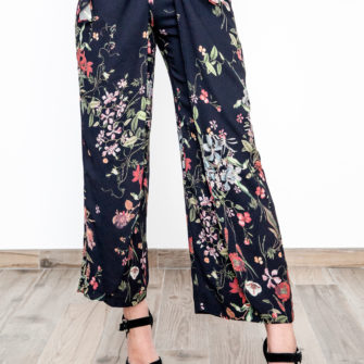 Pareo Pants Black Print