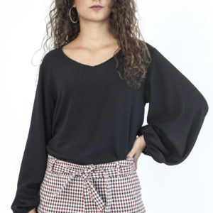Black open blouse - O'Livia