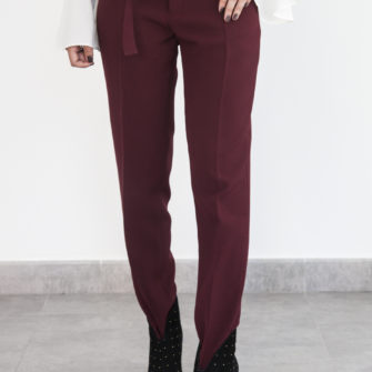 Skinny pants with belt - Fall/Winter Collection 2019 - o-livia.es