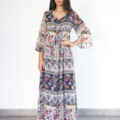 Long print dress - Fall/Winter Collection 2019 - o-livia.es