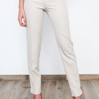 Skinny Pants with Belt Beige