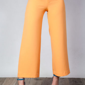 Palazzo Ankle Pants Orange O'Livia