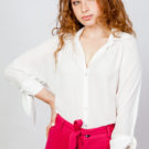 Bow Cuff Blouse White O'Livia
