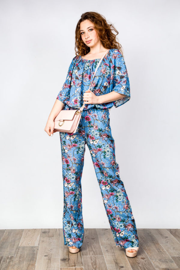 Printed Jumpsuit Blue O'Livia