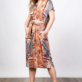 Belt Printed Dress O'Livia