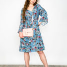 Printed Dress Blue O'Livia