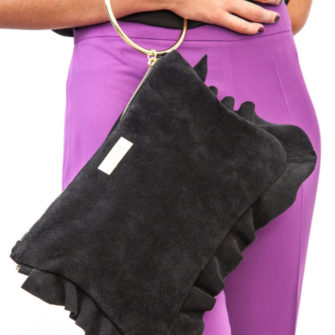 Look Flounced Purse Black