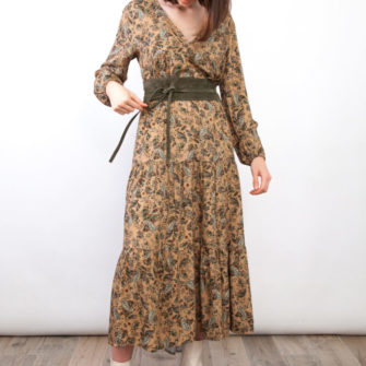 Long Printed Dress Cachemire