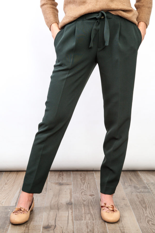 Green Skinny Chino Pants