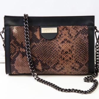 Snake Chain Bag Brown