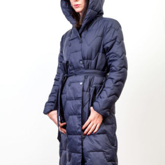 Long Hooded Coat Blue