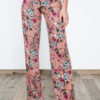 Wide Printed Trousers Pink