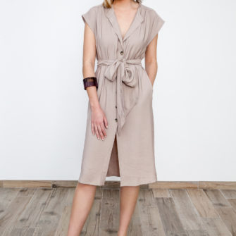 Safari Shirt Dress Beige