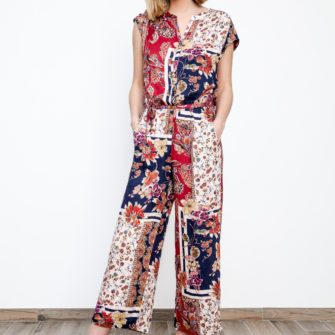 Printed Ankle Jumpsuit