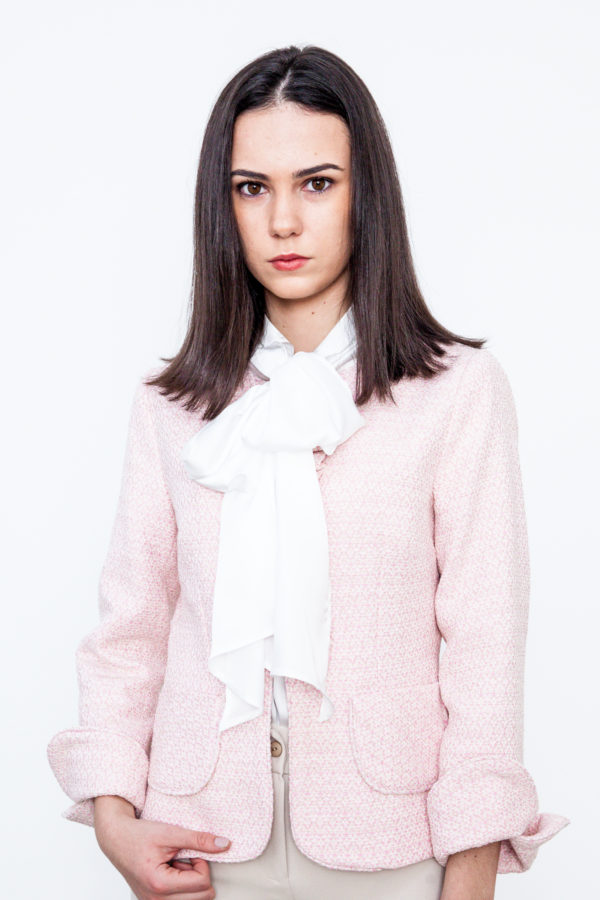 Chanel Type Blazer Pink