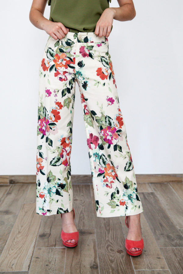 Floral Ankle Palazzo Trousers O'Livia